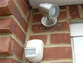 Exterior outdoor security lighting